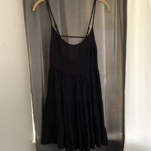 Forever 21 Black ruffle dress